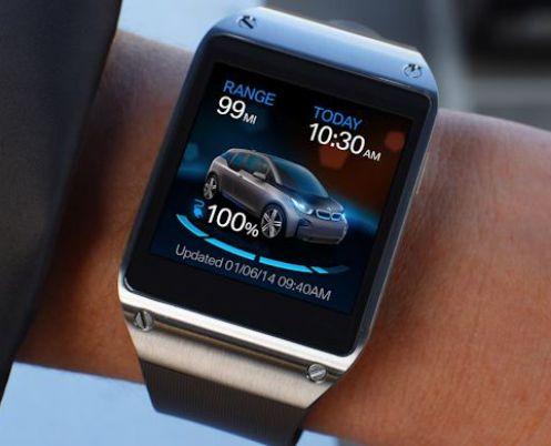 L'App i Remote di BMW sul Samsung Galaxy Gear