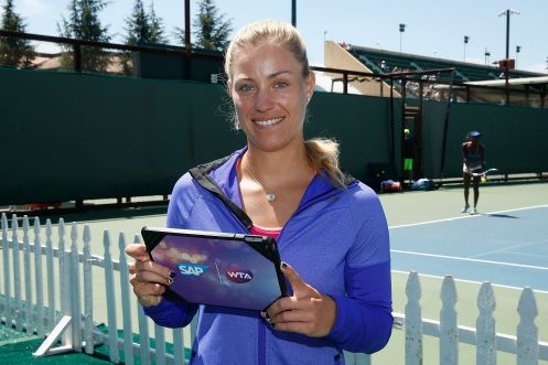 La tennista Angelique Kerber, n.14 nel rank mondiale