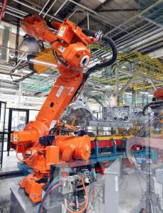 Robot per il progetto ABB legato all'industria automobilistica