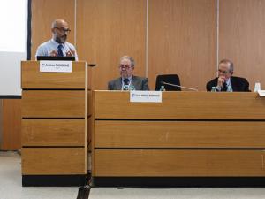 Il Ministro Pier Carlo Padoan, con Andrea Rangone e Carlo Mochi Sismondi a ForumPA 2016