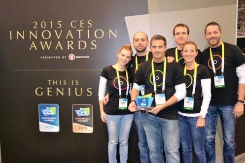 Il team di Easydom premiato al CES 2015