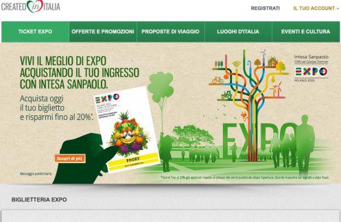 Una schermata del sito Createdinitalia