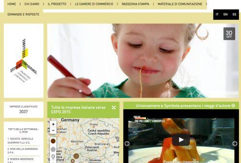 Una schermata del sito Italianqualityexperience