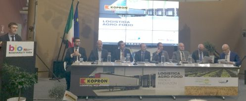 Il panel dei relatori all'evento Logistica agro-food, trend e innovazioni