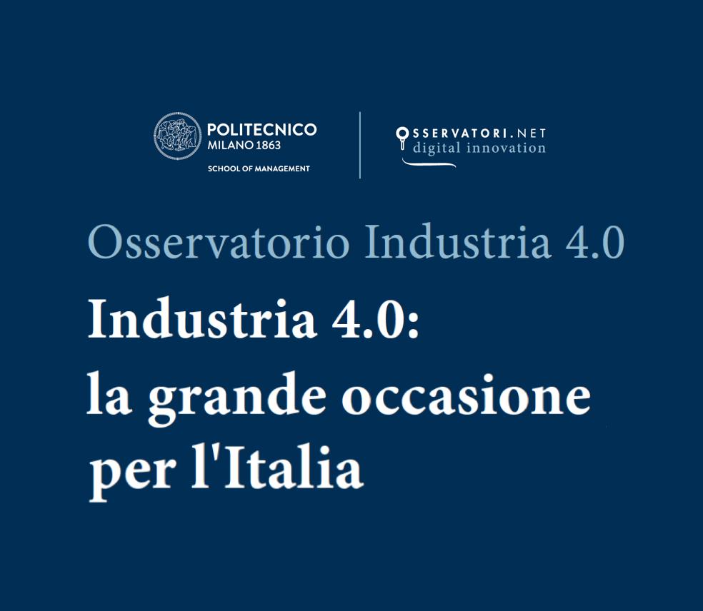 low priced a0854 0f04e Effetto Industria 4.0  +25% di crescita a 1,7 MLD Euro   Internet 4 Things