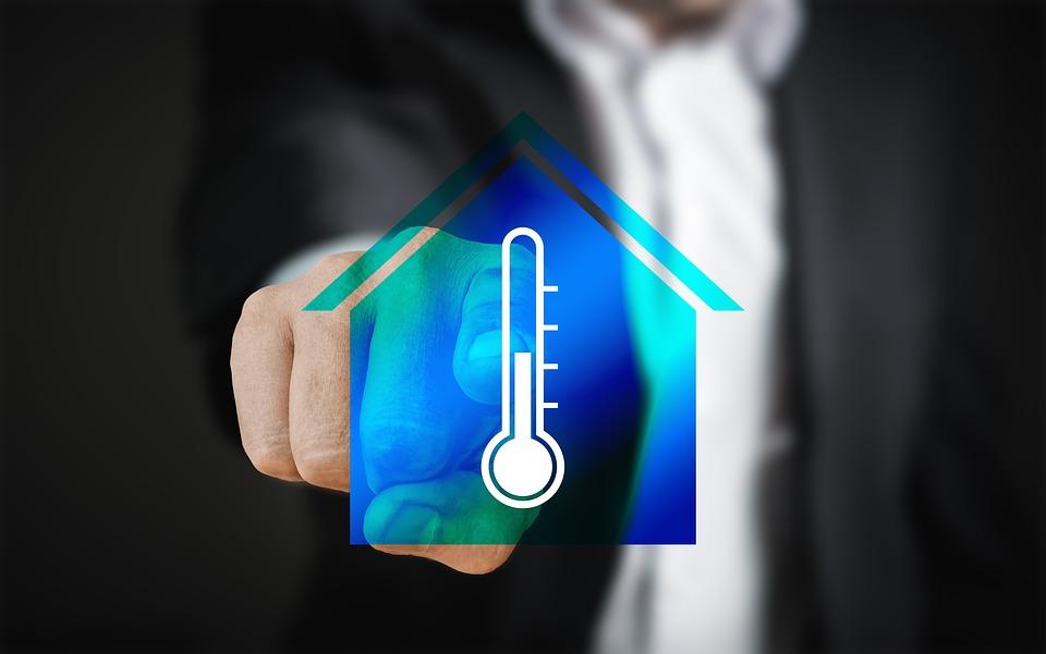 Smart Home, Casa, Tecnologia Touch Screen, Uomo Dito